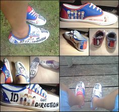 One Direction Shoes i want i want i want.... But thats crazy :( mommy i really want these for my birthday @6ijklm