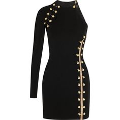 + Anthony Vaccarello embellished stretch-jersey mini dress (22 735 UAH) ❤ liked on Polyvore featuring dresses, vestidos, short dresses, embelished dress, embellished dress, stretch jersey and versus dress