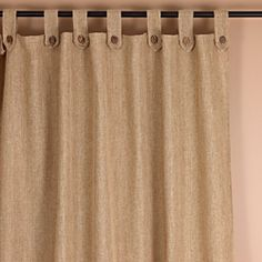 @Overstock.com - Classic Natural Tab Top 94 inch Curtain Panel - Enjoy the look of a new window treatment with this natural curtain panel. It gives the room a classic appeal without taking the focus away from the decor. Coconut buttons add a stylish touch to the piece. It is made of polyester for durability.  http://www.overstock.com/Home-Garden/Classic-Natural-Tab-Top-94-inch-Curtain-Panel/6963253/product.html?CID=214117 $47.49