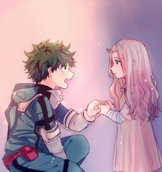 Midoriya Izuku & Eri I haven't read the manga but I mostly know about her. I can't wait for her to be in the anime!