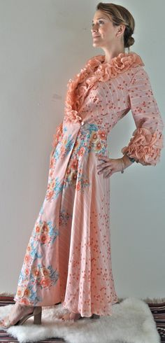 A personal favorite from my Etsy shop https://www.etsy.com/listing/236552246/vintage-pink-floral-nightgown-vintage
