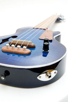Les Paul style Tenor ukulele blue burst by celentanowoodworks