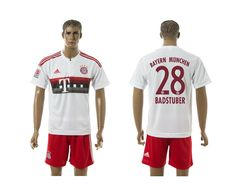 2015-2016 Bayern Munich #28 BADSTUBER Away White Soccer Jersey