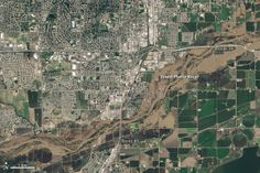 Before and after satellite images of the 2013 Colorado Flood