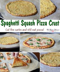 Spaghetti Squash Pizza Crust collage