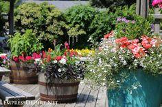 Whiskey barrel planters | 21 Gorgeous Flower Planter Ideas