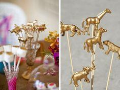 Pretty Gold Animal DIY Ideas...