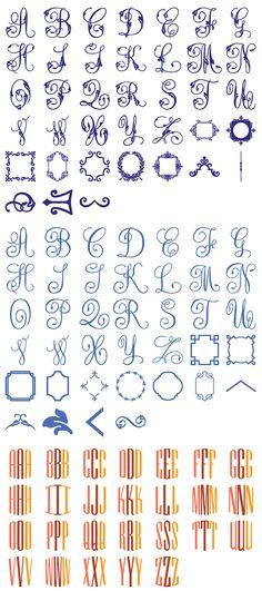 Anna Griffin Decorative Monograms Cricut Cartridge | Memory Miser