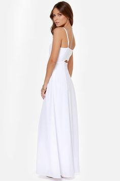 BB Dakota Loulla White Maxi Dress