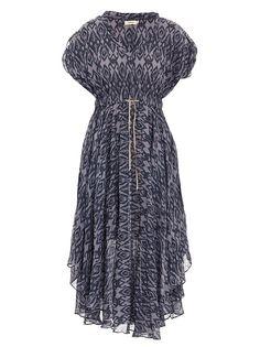 Ikat draped dress
