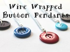 Learn how to use my tutorial from ECT TV Episode 43 to make super cute and simple pendants Necklace Tutorial, Diy Necklace, Washer Necklace, Wire Jewelry, Gemstone Jewelry, Jewellery, Wire Wrapping Tutorial, Wire Wrapped Necklace, How To Make Necklaces