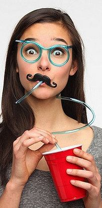 Use a straw. You'll drink more, and you'll drink faster. Win-win.