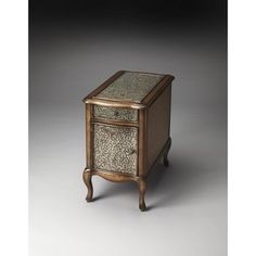 Butler Bosworth Hammered Metal Chairside Table