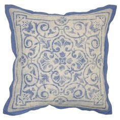 Check out this item at One Kings Lane! Tivoli 22x22 Linen Pillow, Blue