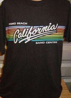 4ddc73004 vintage 1980s Pismo Beach California beach surf t shirt -Medium
