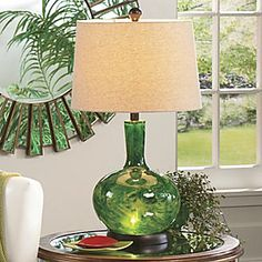 Emerald Fire Table Lamp from Seventh Avenue ®  #pantone #emerald #green #2013