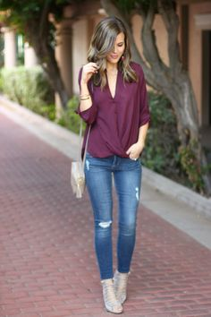 Sophistifunk by Brie Bemis Rearick | A Personal Style + Beauty Blog: Twist Front Top + My New Favorite Jeans