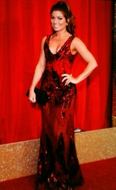 Maxine hollyoaks black and red dress