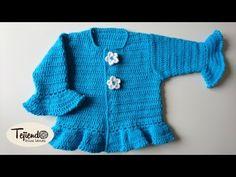 Chaqueta a ganchillo para bebé de 6 meses - YouTube
