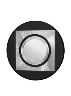 Nova Centrum Mirror, Brushed Aluminum/Black