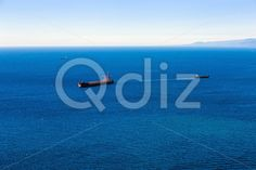 Qdiz Stock Photos | Container cargo ship and vessels in ocean,  #Atlantic #blue #boat #cargo #commerce #commercial #container #delivery #empty #freight #industrial #industry #international #landscape #logistics #marine #moving #nautical #ocean #offshore #sea #ship #shipping #tanker #transport #transportation #vessel #water #waterline