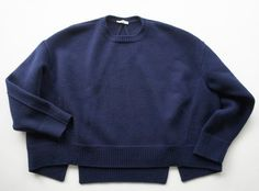 lacollectionneuse: CELINE セリーヌ ウールクルーネックビッグニットプルオーバーXS technical knit jumper (xs) • céline32,900円