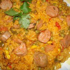 PR Yellow Rice & Vienna Sausages, Arroz con Salchichas