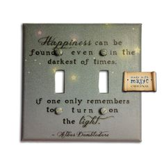 harry potter quote on a light switch