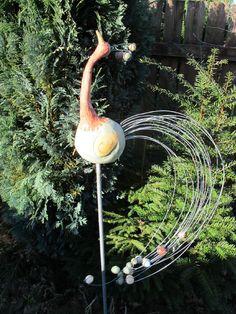 Gartenvogel, Gartendekoration, Keramik Handarbeit