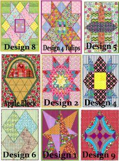 Sailboat Applique Quilt pattern Machine Embroidery design 4 sizes