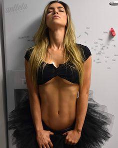 Anllela Sagra Colombian Fitness Motivation  Black dress