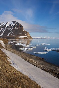 Midnight sun -- Spitsbergen,Svalbard, Norway