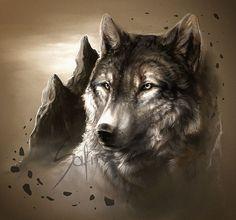 Art by Safiru on deviantart Wolf Spirit, Spirit Animal, Indian Wolf, Wolf Stuff, Wolf Tattoo Design, Wolf Wallpaper, Wolf Pictures, She Wolf, Wild Wolf