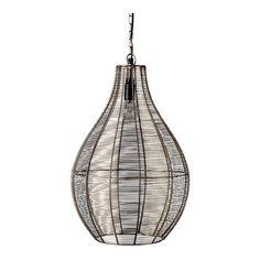 Lámpara de techo de diseño en metal con rejilla Kath