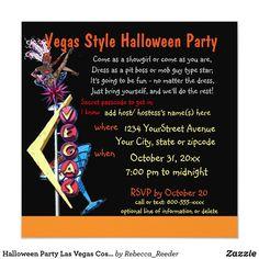 Halloween Party Las Vegas Costume Theme Invitation Adult Halloween Invitations, Halloween Party Themes, Halloween Design, Las Vegas Costumes, Las Vegas Party, Vegas Style, Casino Theme