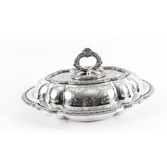 An exquisite antique English Victorian silver plated vegetable entree dish made by the renown silversmiths Collis and Co. Elgin Marbles, Vegetable Entrees, Entree Dishes, Floral Motif, Makers Mark, Silver Plate, Victorian, English, London