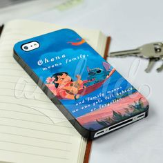 Lilo and Stitch Disney Ohana Means Family for iPhone 5/5c/6/6 Plus Hard Case #UnbrandedGeneric