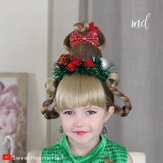Wacky Hair Days, Crazy Hair Days, Q Hair, Hair Buns, Work Hairstyles, Christmas Hairstyles, Cindy Lou Who Hair, Crazy Hair For Kids, Whoville Hair