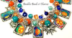 Sun and Moon Charm Bracelet Sun and Moon by baublesbeadsncharms