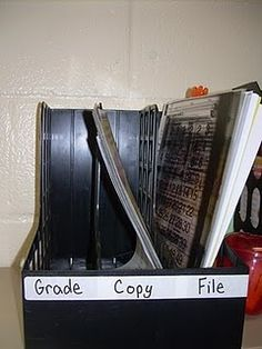 Should definitely do this - would help with the growing piles on my desk.