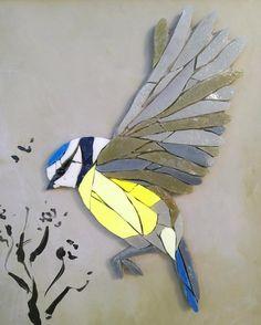 ALICIA art mosaic painting wall interior decoration bird | Etsy Mosaic Garden Art, Mosaic Tile Art, Mosaic Glass, Stained Glass, Mosaic Animals, Mosaic Birds, Mosaic Art Projects, Mosaic Crafts, Mosaic Designs