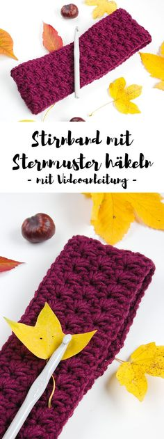 Crochet headband with star pattern - free instructions with video .- Stirnband mit Sternmuster häkeln – gratis Anleitung mit Video In this tutorial, I& show you how to crochet a star pattern headband. There is even a video tutorial. Baby Knitting Patterns, Free Knitting, Crochet Patterns, Knitting Ideas, Baby Patterns, Crochet Gratis, Free Crochet, Knitted Blankets, Knitted Hats