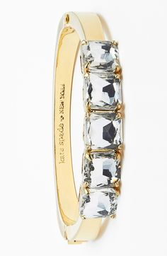Adding this sparkly Kate Spade hinge bracelet to the jewelry box.