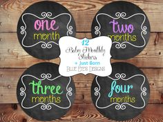 Monthly Chalkboard Stickers, Monthly Baby Stickers, Baby Monthly Stickers, Baby Chalkboard Stickers, Baby Girl Stickers, Growth Stickers by blueeyesdesigns27 on Etsy https://www.etsy.com/listing/175832894/monthly-chalkboard-stickers-monthly-baby