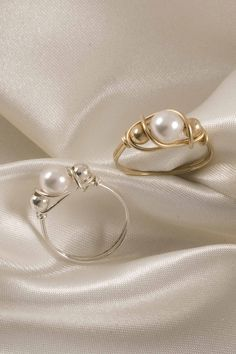Inspiration picture...no tutorial but these rings are for sale :) wire jewelry | Wire Works Jewelry