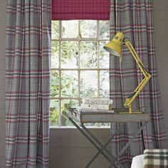 Grey Tweed Heavyweight Fabric Curtains. Curtain Fabric: Osborne U0026 Little.  Photograph By Jon