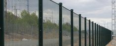 A line of 358 mesh fences are installed on the roadside.