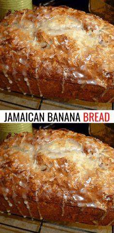 JAMAICAN BANANA BREAD Jamaican Desserts, Jamaican Recipes, Jamaican Dishes, Banana Bread Recipes, Cake Recipes, Dessert Recipes, Banana Bread Cookies, Jamaica Banana Bread Recipe, Recipe For Bread