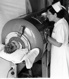 Iron lung in the 1940s and 50's for polio. This was the fate of many who contracted polio. Terrible.