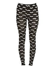 Black Moustache Print Leggings... Cool or what?